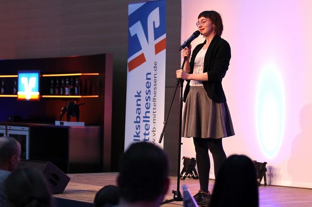 Volksbank Mittelhessen, Mitgliederversammlung, Forum, Gießen, ServiceZentrum, Poetry meets Bank