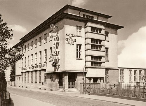 Domizil der Handels- und Gewerbebank Gießen ab 1930